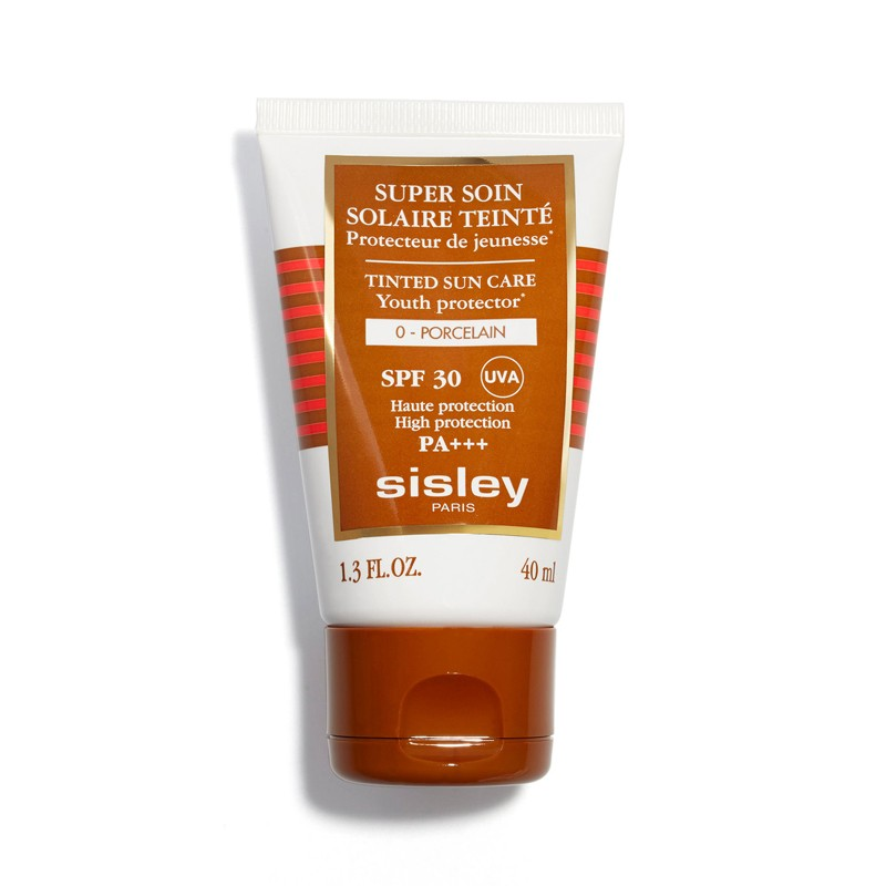 Image of Sisley Crème Solaire Visage Super Soin Solaire Tinted Sun Care SPF30 N°0 Porcelain