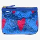 Signature Trio Bag Blue Glitter w/Heart